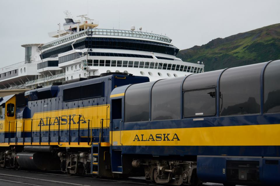 Train and Cruise through Alaska